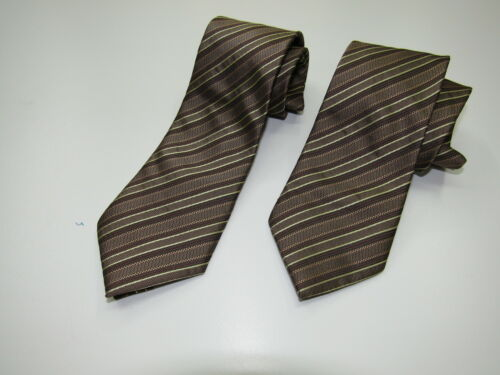 Gold Boys Classic Necktie Double stripe wedding formal party prom 2-15 years