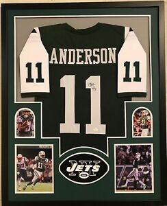 Image is loading FRAMED-ROBBY-ANDERSON-AUTOGRAPHED-SIGNED-NEW-YORK-JETS- e71b1364d