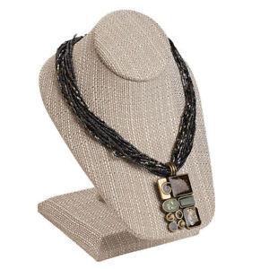 78b62ecfdca 3 Necklace Display Tan Linen 1 2