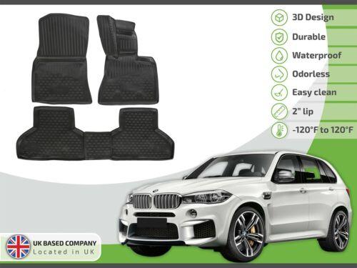 BMW X5 F15 2013-2018 conjunto de goma a medida 3D a medida Alfombrillas De Bandeja De Servicio Pesado