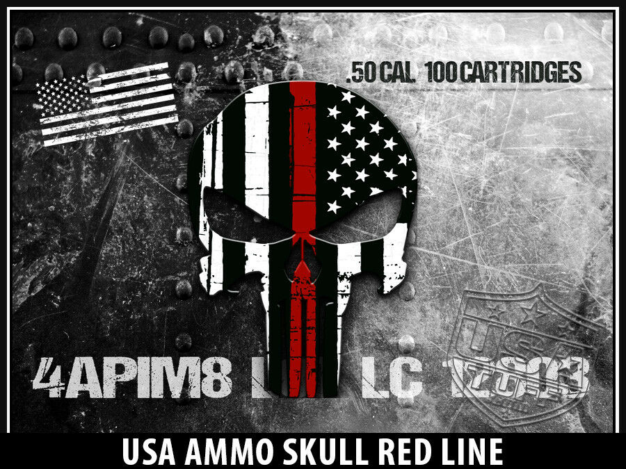 USATuff Custom Cooler Wrap Decal fits Grizzly 75qt FULL USA Ammo Ammo USA Skull ROT Line a01b52