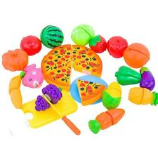 US 24Pcs Pizza Fruit Vegetables Food Cutting Toy Pretend Play Toys Children Gift