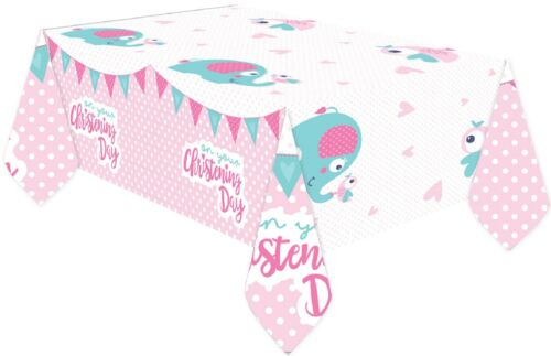 Baby Girls Christening Celebration Tableware Religious Church Event Tablecover