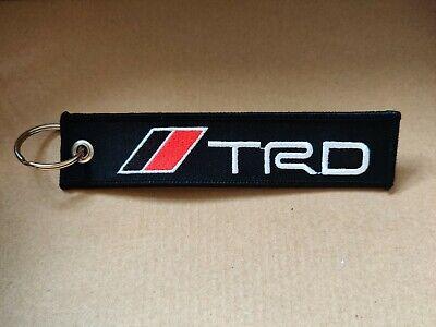 JDM Drift Style Keychain Embroidered Keyring Key Pull Tag Bag Zip JDM