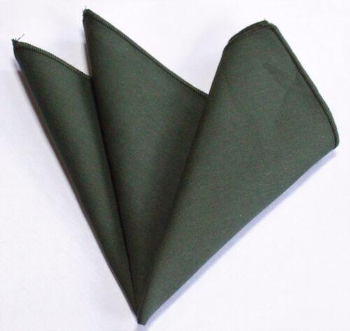 Hankie Pocket Square Cotton Handkerchief Dark Green CH255
