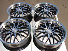 17 5x114.3 5x100 Black Wheels Fits RSX Eclipse Sebring Lexus Corolla Forte Rims