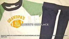Nwt Carter's Boys 18-24 Months Set Blue Grandpa's All Star T-shirt Pants outfit