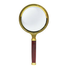 10x Wood Handle Magnifying Glass Delicate Handheld Magnifier Jewelry Reading