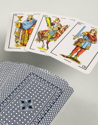 Heraclio Fournier No 1 Spanish Blue Playing Cards New Factory Sealed 40 Cartas