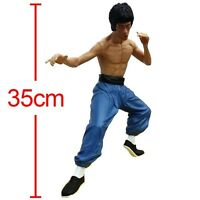 "13"" Bruce Lee Action Figure Kung Fu Hero Enter the Dragon Collectible Model Toy"