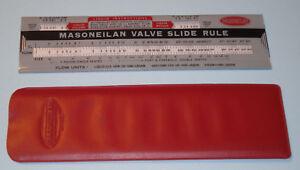 Details about Vintage 1957 Masoneilan Valve Flow Rate Vol/Weight Slide Rule  Calculator w Case