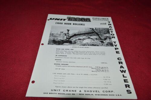 Unit 1220A Pipeliner Specifications Dealer/'s Brochure RPMD