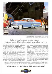 CHEVROLET 53 BEL AIR SEDAN RETRO A3 POSTER PRINT FROM ADVERT 1953