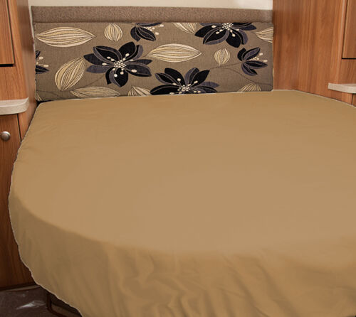 Ivory White Walnut Whip Elddis Odyssey 550 Caravan Fitted Sheet