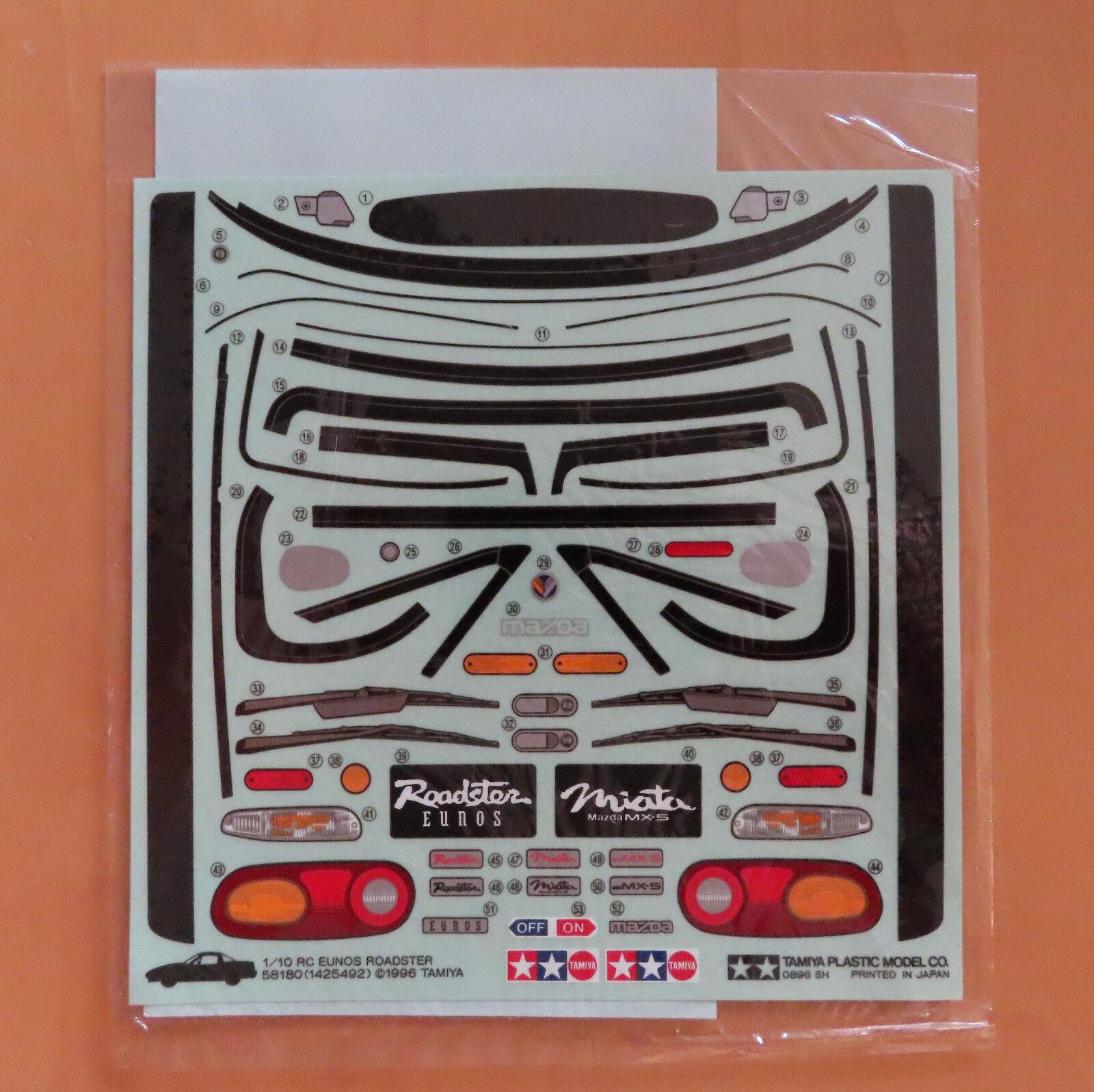 RC Tamiya Appendix 58180 Mazda eunos Road 1996 neu NIB