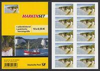 Bund Folienblatt 18 ** 10 x Nr. 2908 aus 2012  Nationalpark Jasmund