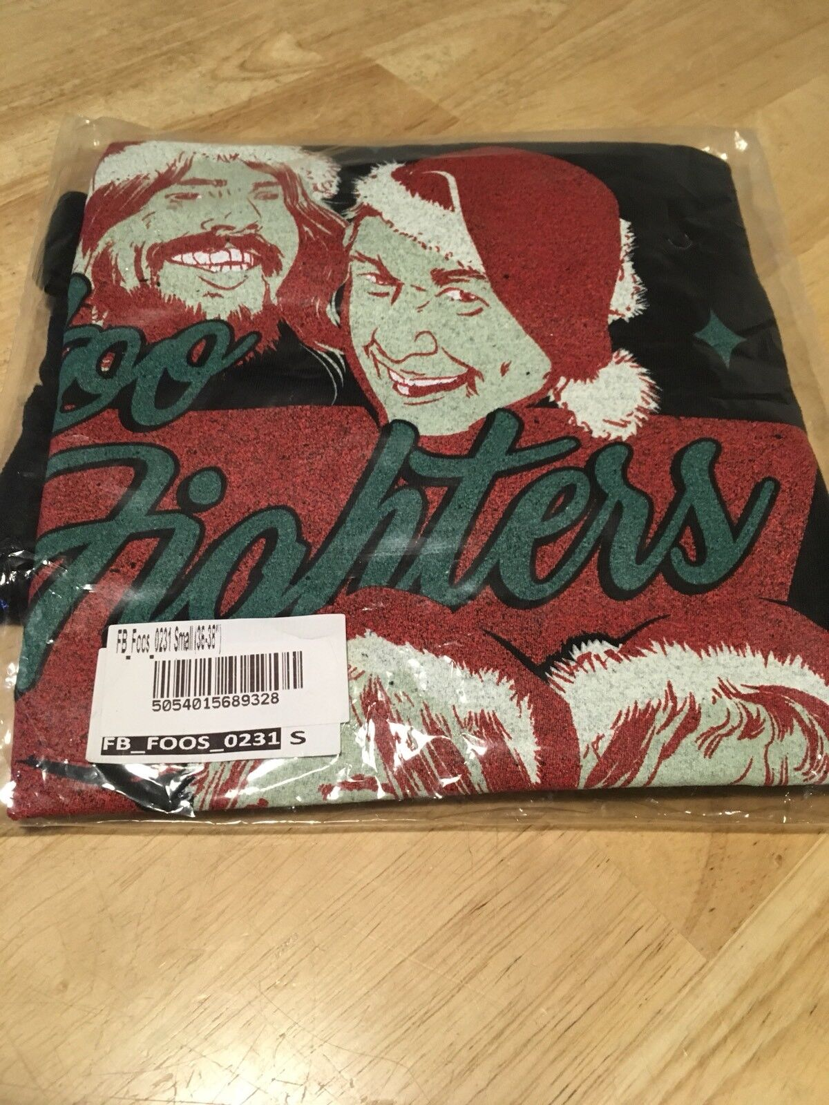 New Vintage Foo Fighters T-Shirt Mens 36-38 Official Foo Fighters Christmas Top