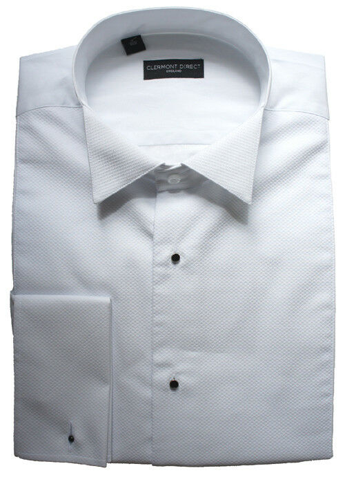 100% Cotton Stud Front Marcella Wing Collar Shirt 19