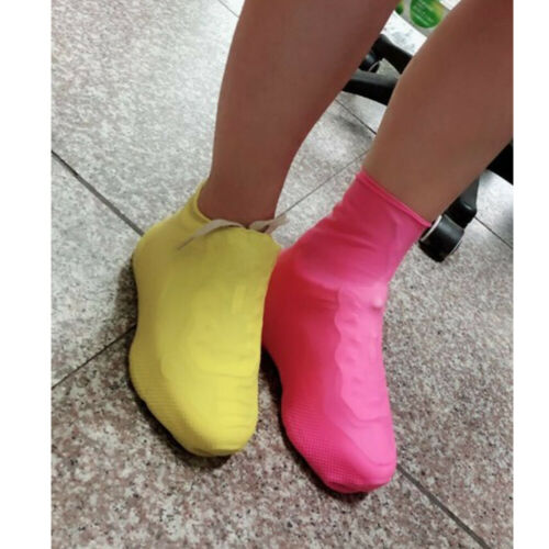 1Pair Silicone Rain Snow Waterproof Shoe Covers Reuse Boot Cover Protector Hot