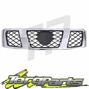 CHROME-SUIT-NISSAN-GU-PATROL-WAGON-GRILLE-GRILL-04-07