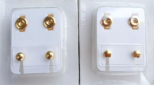 2-Paar-medizinische Ohrstecker,Ohrringe,Gesundheitsstecker   3,8 mm
