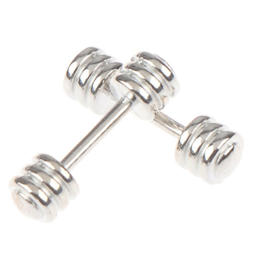 2Pcs 1//12 Dollhouse Barbell Dumbbells Fitness Weights Gym Model Toy Doll DecBDD