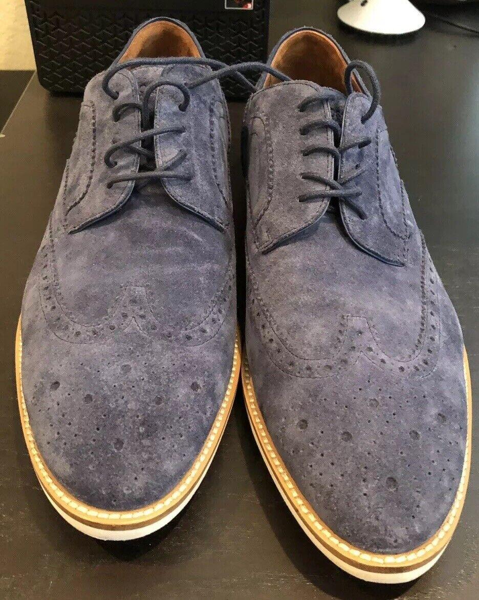 Hugo Boss Men's Fashion Oxfords Cortios bluee Suede shoes US Size 9