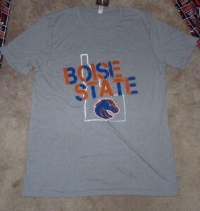 NCAA Boise Staat Broncos Distressed Logo Kurzärmelig Herren Adult Blau T-Shirt