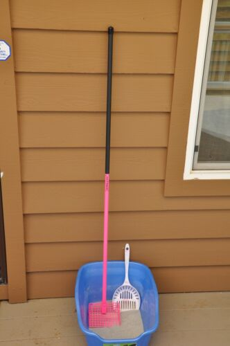 48 inch Cat Litter Box Scoop Life Time Warranty Free Shipping Pink