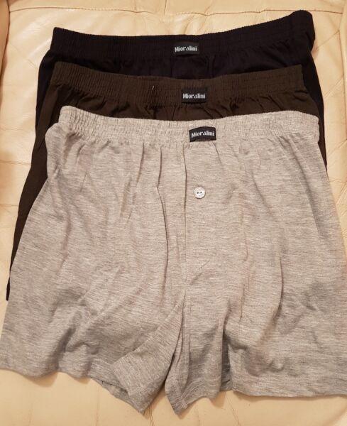Confezione da 3 da Uomo Designer Boxer Shorts Intimo BAULI Multi Pack Set
