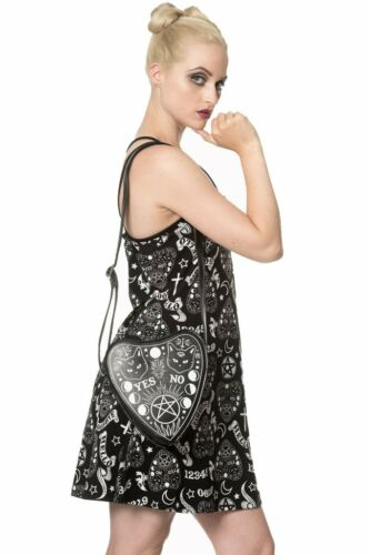 MOONLIGHT SILENCE Banned Black Women/'s Goth Strap Dress