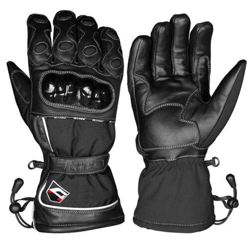 Akito Python Hipora Waterproof Thermal Motorbike Motorcycle Gloves Black XS-XXL