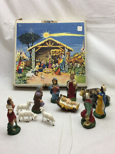 9-Piece-Vintage-Nativity-Figurines-Marked-Italy