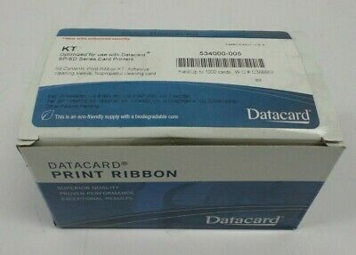NEW Genuine Datacard 532000-053 Monochrome K Ribbon Kit Replaces 552954-601