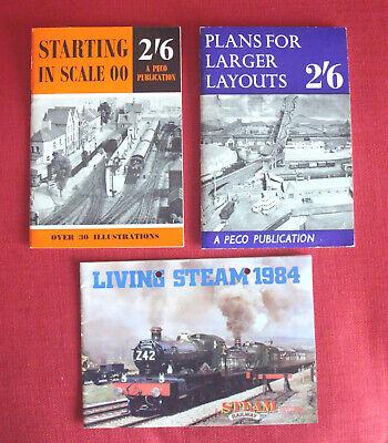 1961 Vintage Model Train Books (peco Publications) & Living Steam 1984 Railways Supplemento L'Energia Vitale E Il Nutrimento Yin