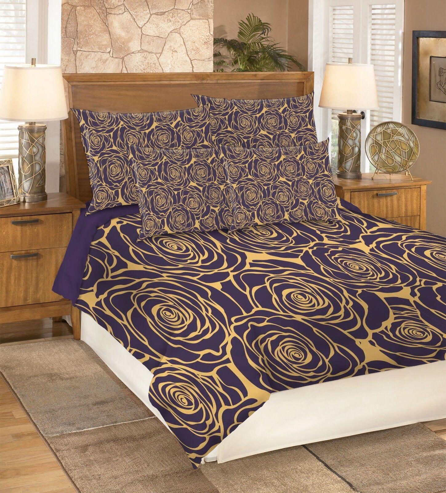 3D golden pinks 26 Bed Pillowcases Quilt Duvet Single Queen King US Summer
