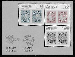 Canada-Scott-756a-Souvenir-Sheet-1978-Complete-Set-FVF-MNH