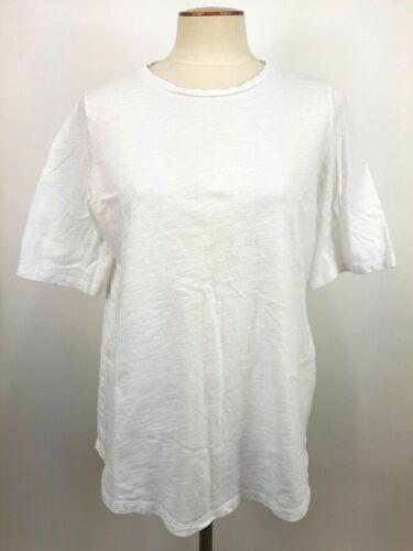 Eileen Fisher 100% Organic Cotton White T Shirt Wo