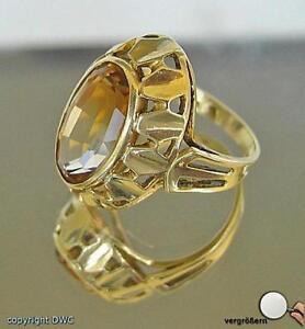 RING-RINGE-MIT-CITRIN-ZITRIN-ZITRINRING-CITRINRING-14KT-GOLD
