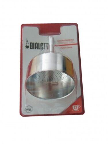 12 Tassen 0800107 Bialetti Moka Express // Dama Trichter Aluminium 12 cm
