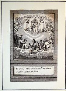 Gravure-Etching-Kupferstich-Bible-Ancien-testament-Ce-Trone-etait-environne-de