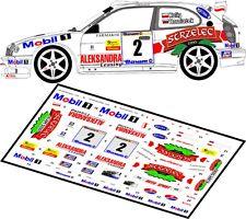DECALS 1/43 TOYOTA COROLLA WRC - #2 - KULIG - RALLYE BARUM ZLIN 2000 - D43010