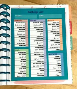 Expense Tracker Two Sided Dashboard for use with the BIG Happy Planner