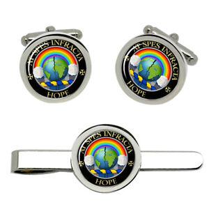 Hope-Scottish-Clan-Cufflinks-and-Tie-Clip-Set