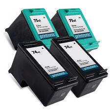 4 Pack HP 74XL 75XL Ink Cartridge OfficeJet J5780 J5783 J5788 J5790 J6405 J