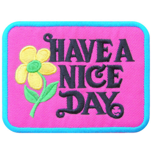 Have a Nice Day Super Hits /'70s Hippie Boho Weed Flower Iron-On Patches #C037
