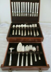 "1881 Rogers silverplated 74 PC Bestecke in Holz Box ""Vorschlag"" 1954 Muster"