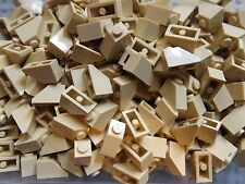 50 LEGO NUOVISSIMO 45 2 X 1 Tan Brick tetto inclinato TILE No. 3040 House build