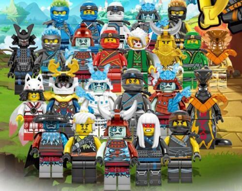 24 Stk Set of Ninjago Mini Figures Kai Jay Sensei Master New Version Blocks Toys