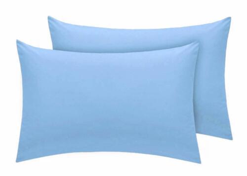 Plain T400 Cotton Housewife Pillow Pair Case Only
